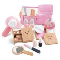 [KTOY] Girl pink makeup wooden house wine set