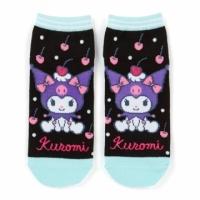 Small Auditorium Kuromi Adult Socks Invisible Socks and Ankle Socks Boat Socks Foot Length 23-25cm (Black Green Cherry)