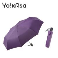 [Yo!kAsa] Simple Plain Color Automatic Opening and Folding Umbrella-Purple