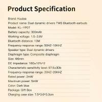 KUULAA Touch Control Bluetooth Earphones TWS Stereo Headphone Wireless HeadphoneActive Noise Cancelling Gaming Headphone