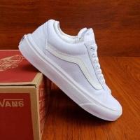 Vans Old Skool Low Cut Casual Shoes Men All White - 36-43 Euro