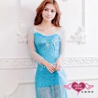 (angel)Angel and Snow Princess Cosplay Costume (Blue M, L)