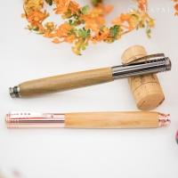 (leatai)【Leatai】Fenghua Peerless Log Pen-Green Sandalwood/Black Titanium