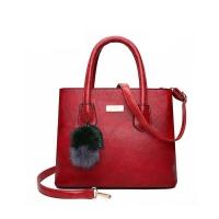 Versatile Vintage Handbag Polished PU Leather