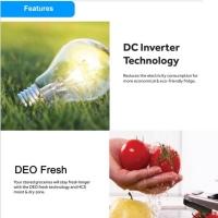Haier 628L Side By Side Glass Refrigerator Fridge Peti Sejuk with DC Inverter Technology HRF-619SI(B)