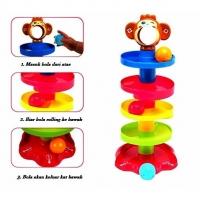 READY STOCK🌹ALAT PERMAINAN BOLA BERPUSING / Baby Child Tower Puzzle Rolling Ball Bell Stackers Toys Kids Developmental