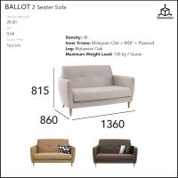 CrisHome - BALLOT 2 Seater Sofa ( Free Shipping to WM )