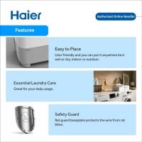 Haier (14KG) Semi Auto Top Load Washing Machine Mesin Basuh | HWM140-SX3