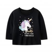 Kids Girl T-shirt 1-10 yrs old Long sleeve unicorn graphic Baju kanak-kanak perempuan1-10 lengan panjang cetakan unicorn