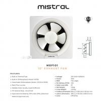 MISTRAL 8/10/12 Inches Wall Mount Exhaust Fan MEF801 / MEF101 / MEF121