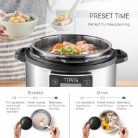 Buffalo Toros 6L electrical pressure cooker + Stainless Steel Inner Pot* PWP Toros CrispLid turn to AIR FRYER