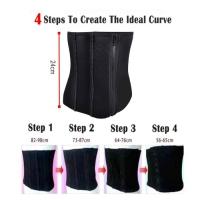 Slim Trimming Waist 4 Steps Belt Sweat Sauna Tummy Abdomen Weight-loss Slimming Belt