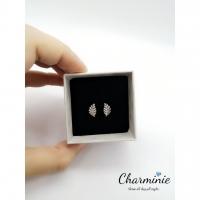 Pure Sliver 925 fasionable Leaf Earrings (Sliver plated Platinum) -Charminie