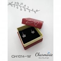 Pure Sliver 925 Half Long Star Earrings-Charminie