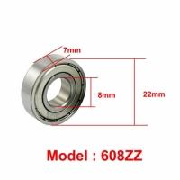 608zz Miniature Ball Bearing Double Metal Shielded (8x22x7mm)