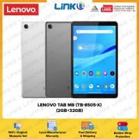 Lenovo Tab M8 / TB-8505-X (2GB RAM + 32GB ROM) 4G Tablet - Original 1 Year Warranty by Lenovo Malaysia