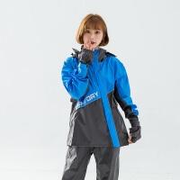 (BrightDay)BrightDay-X Samurai Diagonal Two-Piece Raincoat - Blue