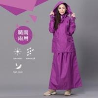 (DongShen)[Dong Shen DongShen] skirt shake women's suit raincoat - purple