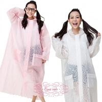 [] Toshin dream lace flounced coat type raincoat