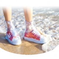 Slip resistant shoe thick rain-round - pearl powder