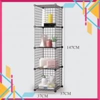 [Malay Ready Stock]DIY 4 Cube Metal Wire Multi-Function Storage Rack