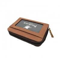 Original Polo Louie Fashion Leather Card Holder Wallet Zipper Men Women Short Wallet Horizontal