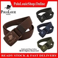 🔥Ready Stock🔥Original Polo Louie Men Women Waist Belt Buckle Simple Nice Waistband Nylon