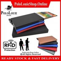ORIGINAL Polo Louie Premium RFID Protection Metal Anti Scan Card Holder Pop-up
