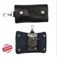 POLO LOUIE Keychain Holder Wallet PU Leather Men's Women Unisex