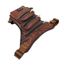Original Polo Louie Leather Waist Bag Leg Thigh Pouch Beg Ikat Kaki Biker