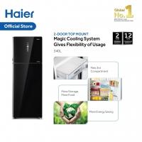 Haier 340L Top Mount Inverter Freezer 2 Door Refrigerator/Peti Sejuk 2 Pintu HRF-389IHM/IHG (Stainless Steel/Glass)