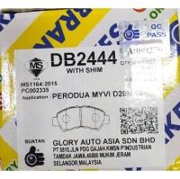 GLORY Perodua Myvi 1.5 D20N 2018Y 3rd Generation Front Disc Brake Pad / Rear Brake shoe