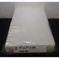 PE Plastic Bag / 5 x 7 inch Clear PE 04 (0.04mm) Plastic Bag / Thin PE Bag / Jenis Nipis / Pembungkus Buah, Kerepek
