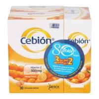 Cebion Chewable Vitamin C (500mg x 30s x 3) EXP 07/2022