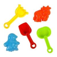 5-piece sand play tool set (beach toys)
