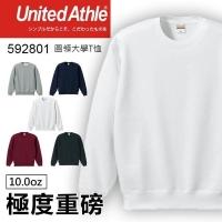 (United Athle)United Athle 592801 Heavy 10.0oz Round Collar Plus Velvet University T? - White