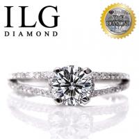 (ILG DIAMOND)[Top US ILG diamond ornaments] eight heart eight arrows ring - love romance Ri139 main drill 75 points small female OL daily wear design