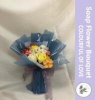 COLOURFUL LOVE SOAP FLOWER BOUQUET 手工香皂花束