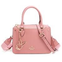 (playboy)PLAYBOY-Handbag with long strap Vivid girl series-Pink