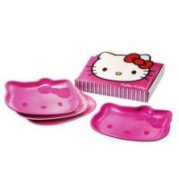 TUPPERWARE HELLO KITTY PINK PLATE SET (4)
