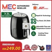 MEC 3.2L Air Fryer (READY STOCK) - 4 Functions (Fry, Roast, Grill & Bake) -1 Year Warranty -3 Pin Plug - Rapid Heatwave