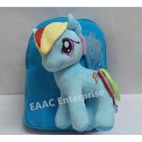 3D Cute Pony Rainbow Dash Backpack Kindergarten School Bag