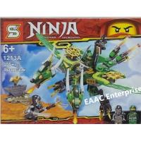Ninja 1213A Twin Head Dinosaur Building Block Bricks 305+pcs