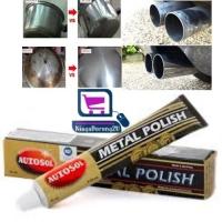 MALAYSIA SHIP: CREAM PENCUCI PENGILAP PERMUKAAN ALUMINIUM TEMBAGA/ PERIUK/ Original Autosol Chrome Metal Aluminium Clean