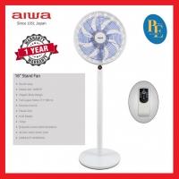 """Aiwa 16"""" 9 Speeds Remote Control Stand Fan - AW-16NSFR"""