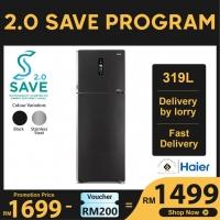 Haier HRF-339IHM 319L 2 Door Glass Refrigerator Fridge Peti Sejuk with Twin Inverter Technology