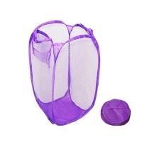 Foldable Pop Up Washing Laundry Basket Bag Hamper Mesh Storage