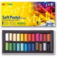 Mungyo Soft Pastel 24 Colours Set (Half Size)