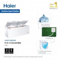 Haier (535L) Chest Freezer Convertible (Freezer <> Fridge) BD-568HP💥Upgrade Version 💥