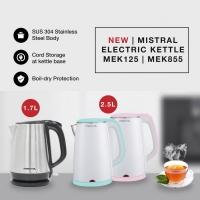 Mistral Electric Kettle (2.5L) Cool Touch MEK855 Pink/ Mint